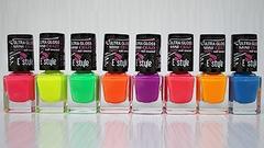 Neonové laky na nehty E style | 3+1 ZDARMA